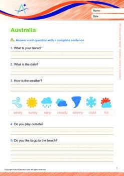 Australia (I): Jacob in Australia (with 'Triple-Track Writing Lines')