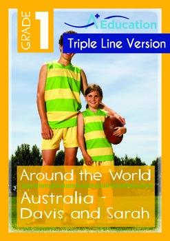 Australia (II): Davis and Sarah (with 'Triple-Track Writing Lines')