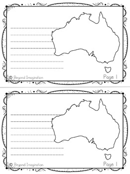 Australia Continent Booklet | 48 Pages for Differentiated Learning + Bonus Page