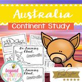 Continent Facts Unit Booklet Unit Australia