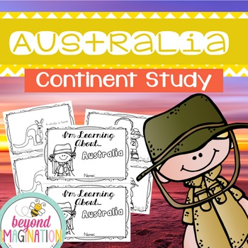 Australia Continent Booklet | 48 Pages for Differentiated