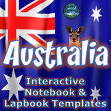 Australia Interactive Notebook Activities with ELA Informational Text Test Prep