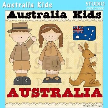 Australia Kids Color Clip Art C. Seslar
