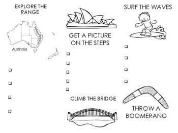 EXPLORING AUSTRALIA Brochure and Spinners
