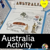 Australia Lap Book and Stations Activity with Google Slides