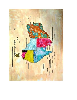 """Australia Map 8.5"""" x 11"""" with Key Countries Continent Map"""