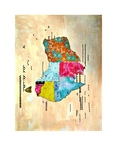 "Australia Map 8.5"" x 11"" with Key Countries Continent Map"
