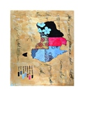 """Australia Map 8.5"""" x 11"""" with Key Countries Continent Map Legend on Map"""