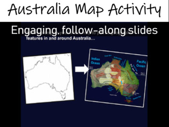 Australia Map Activity- fun, engaging, follow-along 33-slide PPT (w video links)