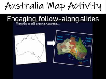 Map Of Australia Video.Australia Map Activity Fun Engaging Follow Along 33 Slide Ppt W Video Links