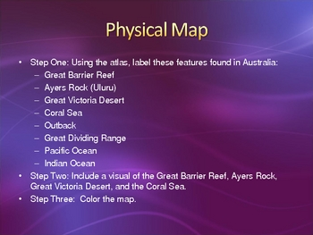 Australia Map Booklet Project