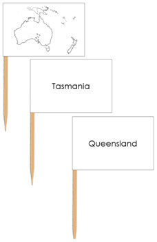 Australia Map Labels - Pin Map Flags