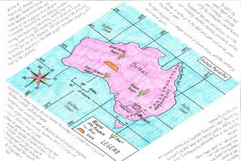 Australia Map, Physical Geography, Resource, Plants, Animals, Tourism Foldable