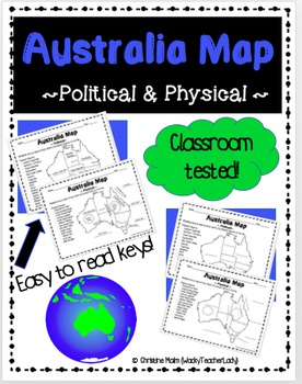 Australia Map (Physical & Political)