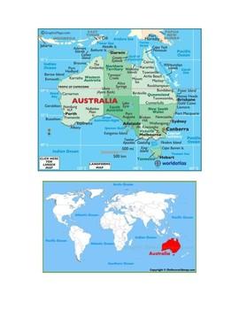 Australia Map Scavenger Hunt