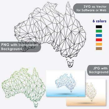Australia Map Svg.Australia Maps Clip Art Maps With Geometric Shapes