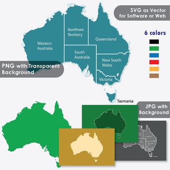 Australia Land Map.Australia Maps Clip Art Maps With Land Area