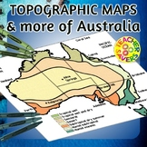 Australia Maps Clip Art Set Commercial Use