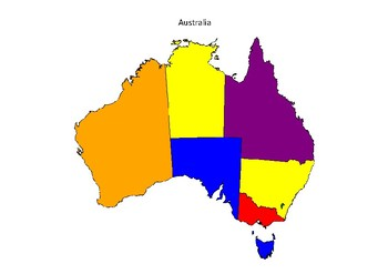 Map Of Australia Pdf.Australia Maps State B W And Coloured