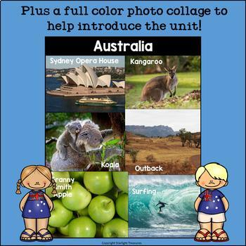 Australia Mini Book for Early Readers - A Country Study