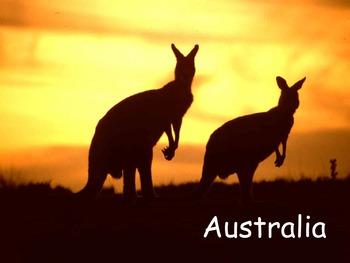 "Australia Nonfiction PowerPoint ""Book"" for Late First Thro"