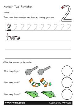 Australia - Number Formation Workbook 0-20