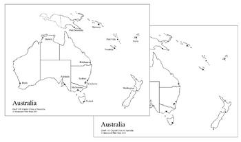 Australia-Oceania Capital Cities Map
