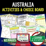 Australia & Oceania Activities, Choice Board, Print & Digital, Google Geography