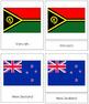 Australasia-Oceania Flags: 3-Part Cards