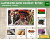 Australia / Oceania Geography Continent Bundle - Montessori Geography Cards