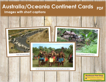 Australia / Oceania Geography Folder (color borders)