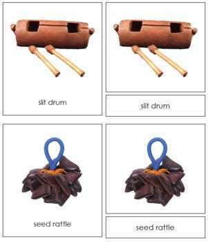 Australia / Oceania Musical Instruments: 3-Part Cards