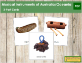 Australia / Oceania Musical Instruments: 3-Part Cards