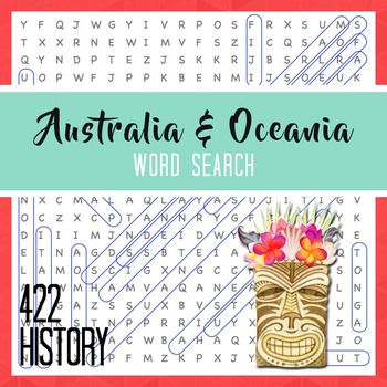 Australia Oceania Word Search