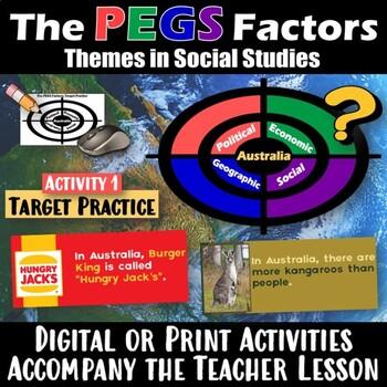 Australia - P.E.G.S. ~  Practice Lesson & Student Worksheet  ~