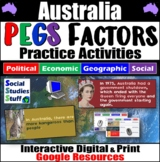 Australia PEGS Factors Interactive, Digital Lesson for Google Classroom
