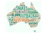 Australia Poster- word wall, bulletin board, display, country, geography