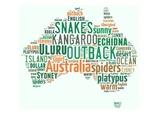 Australia Poster- word wall, bulletin board, display, coun