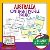 Australia Project Activity Pages (Paper and Google Drive) World Geography