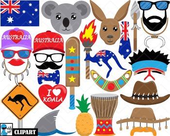 Australia Props - Clip Art Digital Files Personal Commercial Use cod257