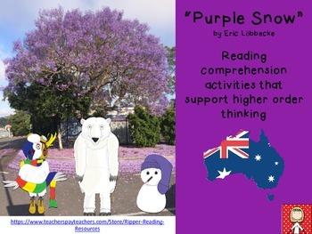 "Australia: ""Purple Snow"" by Eric Löbbecke - reading comprehension activities"