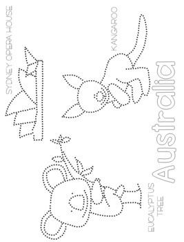 Australia Push Pin Art