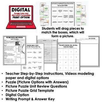 Australia Picture Puzzle, Test Prep, Unit Review, Study Guide