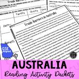 *6th Grade Georgia* Australia Reading Activity Packets BUNDLE (GSE Aligned)