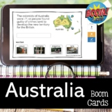 Australia Review Game BOOM CARDS for Distance Learning