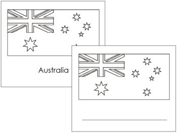 Australia State & Territory Flags: Outlines