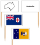 Australia State & Territory Flags: Pin Map Flags