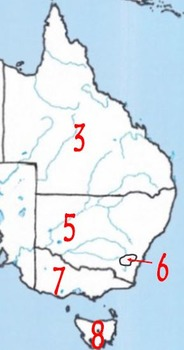 Australia - States and Territories Identification Quiz