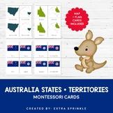 Australia States and Territories Montessori Cards