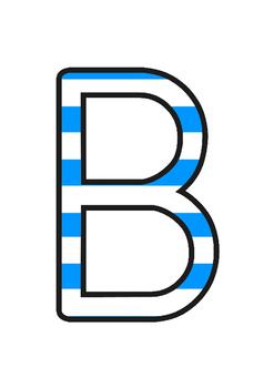 Australia - Stripey Blue Display Lettering